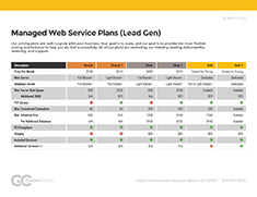 Lead Gen Managed Service Plans | GoldenComm